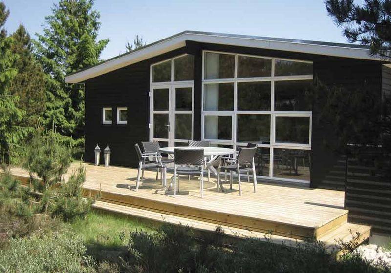 Glasparti til terrasse Рf̴ lys og udsigt i sommerhuset